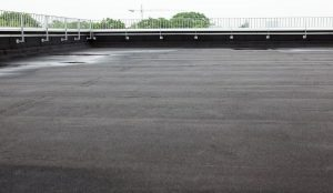 Flat roof of commercial building