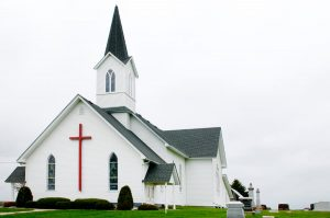 Church With Sloped Roof