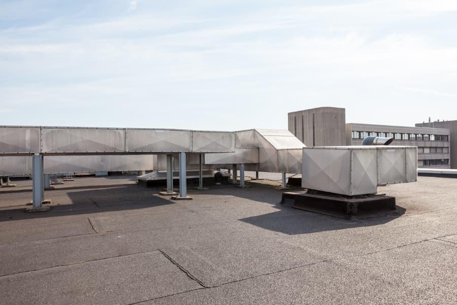 HVAC Equipment On Flat Roof