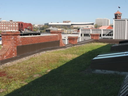 Eco Green Roof with Grass - Portland, OR - McDonald & Wetle